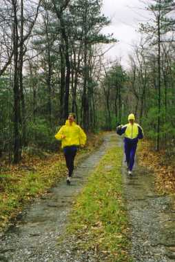 Joe Clapper and Roger Allison on Trail in 2000