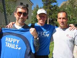 Jack Andrish before Western States with Scott Mills and son Sean
