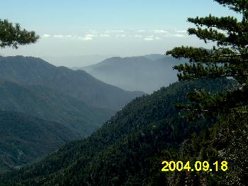 Scenic view at Angeles Crest