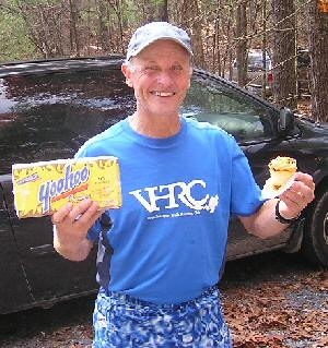 Gary with his Yoohoo and B'day Cupcakes