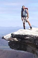 Robin on McAfee Knob
