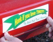 Click to see who is putting on his TWOT bumper sticker.