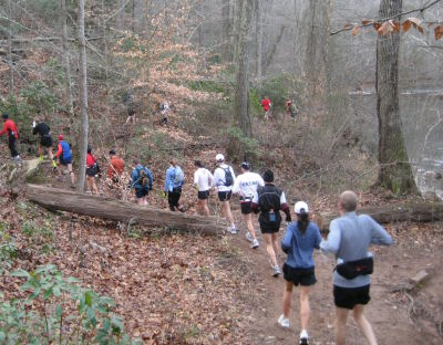 Photo of runners on the Trail