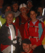 Lucia, Tom, and Joyce at Start of Moonlight Run