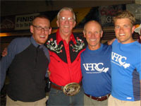 Photo of King Jordan with other VHTRC'ers at Leadville