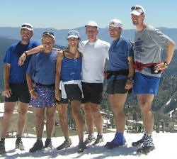 Photo of VHTRC runners at Emigrant Gap