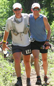 Scott Mills and Derrick Carr at Western States