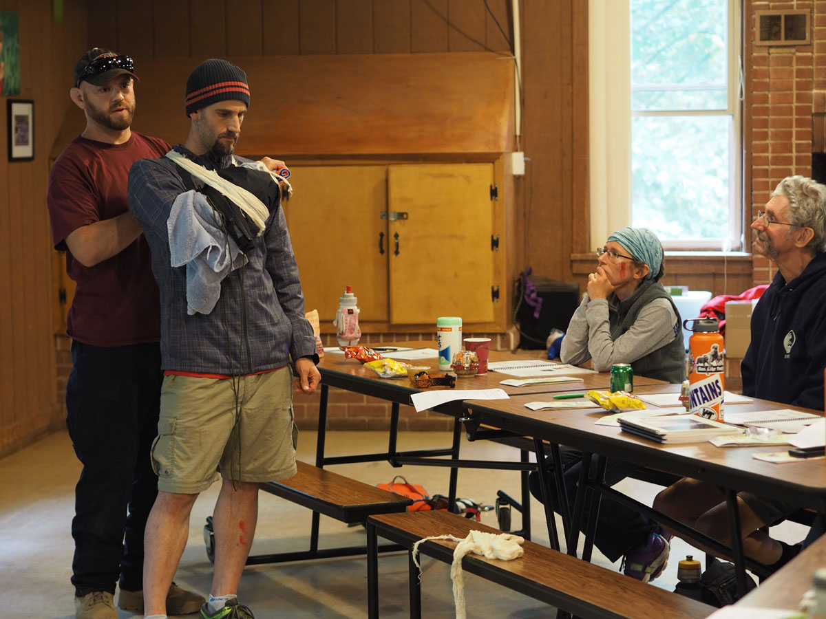 Wilderness first aid course at Hemlock Overlook