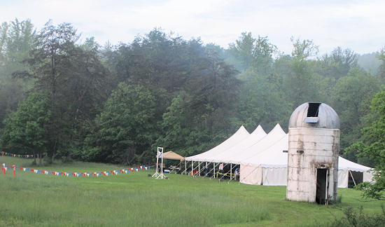 Finish Line and Tent